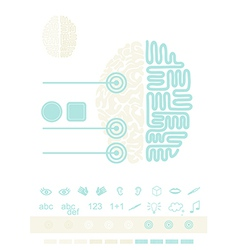 Brain graphic elements vector