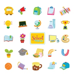24 school things vector