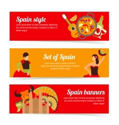 Spain banners set vector image