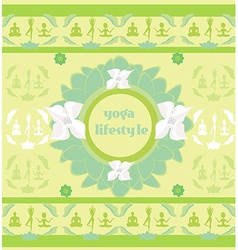 Yoga lifestyle card vector