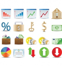 Finals stock and economy icons vector