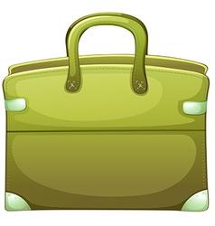 A green handbag vector