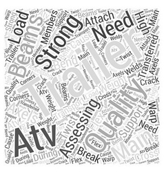 Assessing atv trailer quality word cloud concept vector