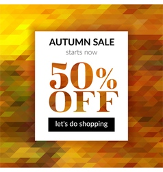 Autumn sale background with abstract background vector image vector image