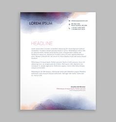beautiful creative letterhead design vector image vector image