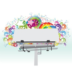 billboard with floral vector image