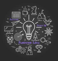 Chalk board - business idea vector