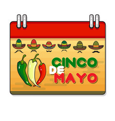 Cinco ge mayo day pepper vector