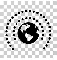 earth sphere shield icon vector image vector image