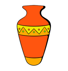 Egyptian vase icon cartoon vector