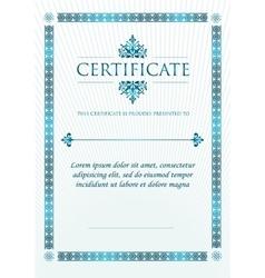 Elegant classic certificate of achievement vector