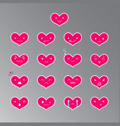 Emoticons heart color 18 vector