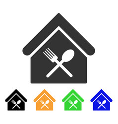 Food court icon vector