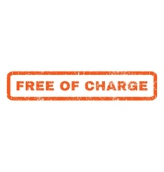 Free Of Charge Rubber Stamp vector image vector image