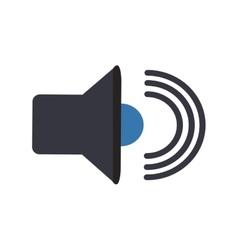 Isolated music volume design vector