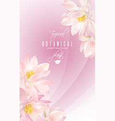 lotus flower banner vector image vector image