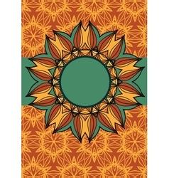 mandala frame vector image