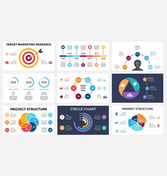 Marketing infographic cycle diagram global vector