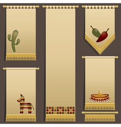 Mexican wall hangings vector