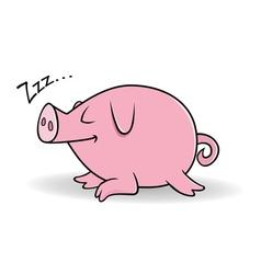 pig sleeping vector image vector image