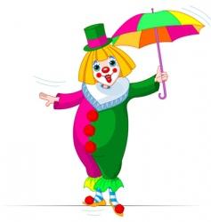 ropewalker clown vector image vector image