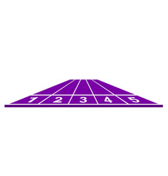 Running track in purple design vector