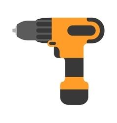 Screwdriver flat cordless drill electro vector