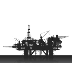 Sea oil rig Oil platform in the deep sea vector image