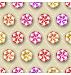 Seamless background with sweets vector image vector image