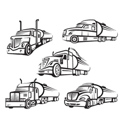 set of tank truck vector image