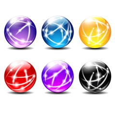 Six Spheres Balls with Communication vector image vector image