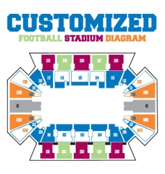 stadium diagram vector image
