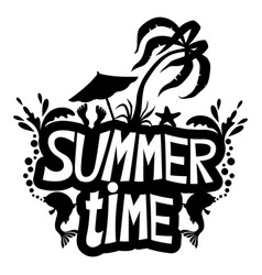 Summer time sign vector