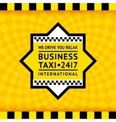 Taxi symbol with checkered background - 13 vector