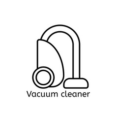 vacuum cleaner simple line icon spring-cleaning vector image