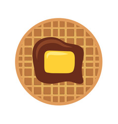 waffles with butter icon vector image