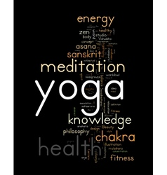 Yoga word cloud concept vector