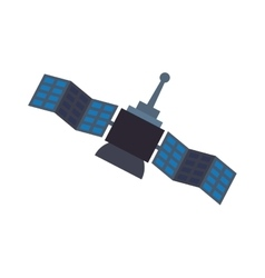 Satellite antenna science icon graphic vector