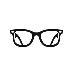 Eyeglasses icon in simple style vector