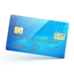 Blue credit card vector