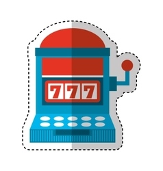 Casino slots machine icon vector