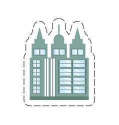 Cartoon building skyscraper icon vector