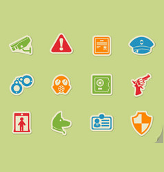 Security symbols icon set vector