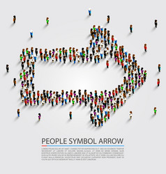 people arrow isometric arrow group sign vector image