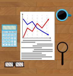 statistic chart analysis vector image
