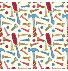 Tools seamless bright color pattern vector