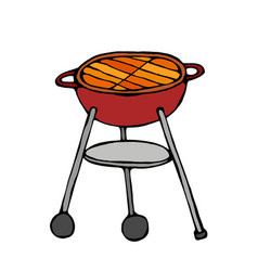 Bbq grill isolated on a white background vector
