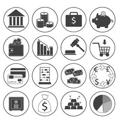 Basic money icons collection vector