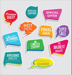 Promo sale stickers and tags collection modern vector