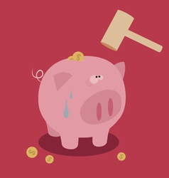 Piggy bank saving money vector